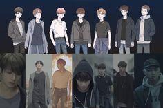 "webtoon ""save me"" Bts Taehyung, Bts Bangtan Boy, I Need U Bts, I Love Bts, Boy Scouts, Bts Manga, Save Me Bts, Memes Bts Español, Bts Cute"