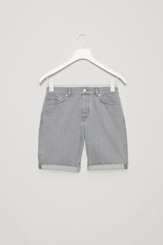 COS image 9 of Denim shorts in Grey