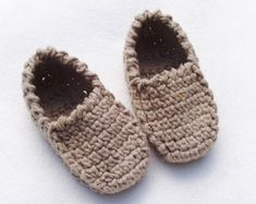 Baby Winter Loafers Crochet Pattern - Slippers - Instant Download Pdf
