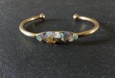 Raw Opal Bracelet October Birthstone Jewelry by IWasBornToShine