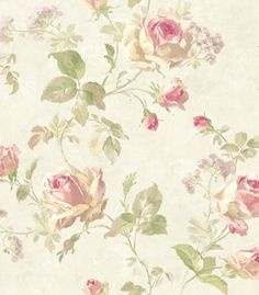 Wallpaper Designer Lavender Beige Green Rose Trail on Cream Taupe Faux 631748452433 Washable Wallpaper, Go Wallpaper, Pattern Wallpaper, Luxury Wallpaper, Wallpaper Ideas, Floral Vintage, Vintage Flowers, Discount Wallpaper, Flowers