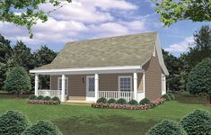 This Country House Plan includes 2 bedrooms / 1 baths in 800 sq ft of living space.  Its open floorplan layout is flexible and is ideal for your growing family.  Best of all, its designed to be affordable to build and includes all of the most popular features you're looking for in your next home design.    #houseplan #dreamhome #HPG-800B #HousePlanGallery #houseplans #homeplans New House Plans, Small House Plans, House Floor Plans, Inexpensive Flooring, Inviting Home, Bedroom House Plans, Shed Plans, Cabin Plans, Cottage Homes