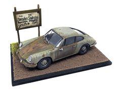 Miniature Diorama Barn garage with Ford Thunderbird Convertible scale : Day Van, Barn Garage, Miniature Rooms, Ford Thunderbird, Convertible, Scale, Dads, Behance, Miniatures