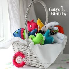 Basket Of Felt Toys | DIY Baby Toys Your Precious Ones Will Love