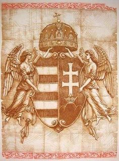 Crest of Austria-Hungary Hungarian Tattoo, Hungary History, Ww2 Pictures, Dad Tattoos, Heart Of Europe, Angels And Demons, Budapest Hungary, Illustrations And Posters, Coat Of Arms