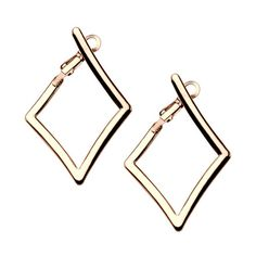The premier source for INOX Jewelry product purchases. Diamond Hoop Earrings, Stainless Steel Jewelry, Diamond Shapes, Eye Candy, Cufflinks, Rose Gold, Jewels, Retail, Accessories