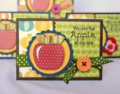 Sometimes when Jana Eubank (Cricut Circle Blog) is designing a project a certain icon will stick out to her that perfectly represents the feeling she's going for. For this set of teacher's notecards, she chose to use . . . apples from the Just Because Cards Cricut Cart