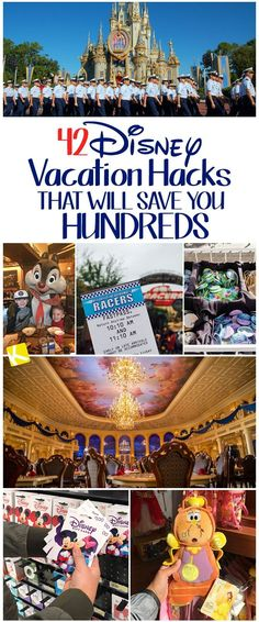 Planning a trip to Disney World or Disneyland? We want to help you save money on Disney tickets and food in the park! We'll even show you how to save time in line with these budget Disney vacation hacks! Walt Disney World, Voyage Disney World, Viaje A Disney World, Disney World Tipps, Disney World Tips And Tricks, Disney World Vacation, Disney Tips, Disney Fun, Disney Vacations