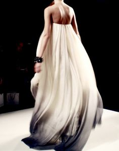 Ombre on a gown once again to beautiful effect. Provenance unknown