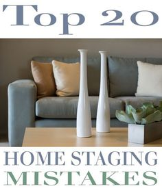 Top 20 Home Staging Mistakes . home staging is quickly becoming a necessity & an integral part of selling real estate. Gone are the days when staging was simply an option; in today's tough real estate market proper staging is the only way to set your ho Sell My House, Up House, Selling Your House, Selling Real Estate, Real Estate Tips, Home Staging Tips, House Staging Ideas, Decorating Ideas, Decor Ideas
