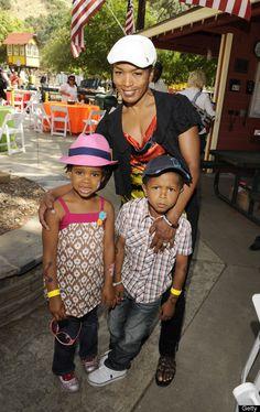 Angela Bassett and children Bronwyn Golden & Slater Josiah