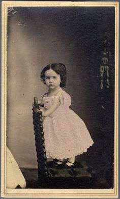 Vintage photo, little girl
