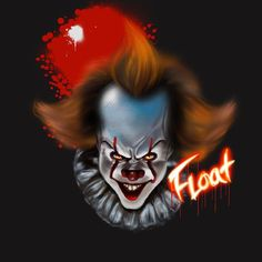 "@mar_marlee92 shared a photo on Instagram: ""#tshirtdesign #ipadpro #procreate #emoji #airbrush #digitalillustration #digitalartist #it #pennywise #horrormovies #holloween"" • Nov 1, 2020 at 1:55am UTC Pennywise The Dancing Clown, Ipad Pro, Airbrush, Horror Movies, Digital Illustration, Emoji, Fictional Characters, Instagram, Art"