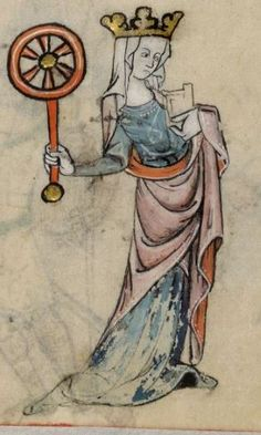 Detail from The Luttrell Psalter, British Library Add MS 42130 (medieval manuscript,1325-1340), f39r