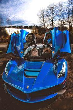 La Ferrari Blue Wings