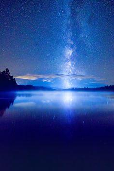 Interstellar Wandering - The Milky Way seen from the Adirondacks [2149 x 3223] [OC] http://ift.tt/2cE5yuk
