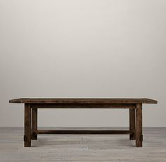 On sale for $1695 at Restoration Hardware, seats 6, with sleeves seats 8. Farmhouse Salvaged Wood Rectangular Extension Tables