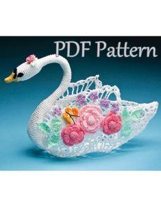 Pieza central de la reina cisne patrón de ganchillo PDF
