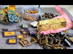 Gold Recycle from scrap components electronics. connectors Electronic circuit Boards computer parts. Electronic Scrap, Electronic Circuit Board, Electronic Recycling, Electronic Devices, Computer Parts And Components, Copper Moonshine Still, Scrap Recycling, Scrap Gold, Metal Detecting