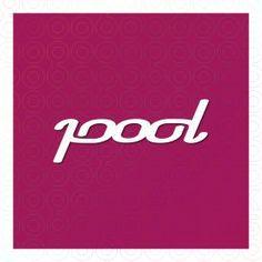 Pool Ambigram Logo logo