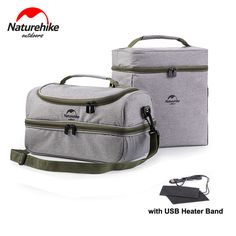Sale 17% (16.99$) - Naturehike Outdoor Waterproof Picnic bag Insulated Lunch Bag with USB Heater Band