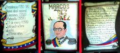 Tríptico para exponer sobre Marcos Pérez Jiménez. #mismanualidades #misideas #mistrabajosescolares #marcospérezjiménez