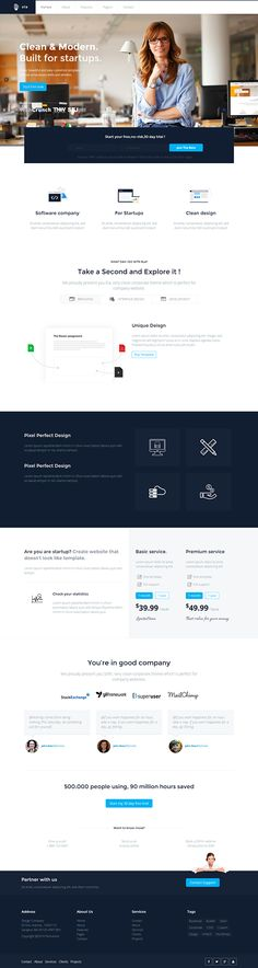 Ela - Business / Multipurpose Theme by Themes Awards, via Behance