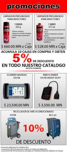 Promociones Marzo 2013, Loctite, Maxidas, Recicladores A/C