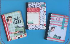 Love these small notebooks using Authentique Fabulous paper line.