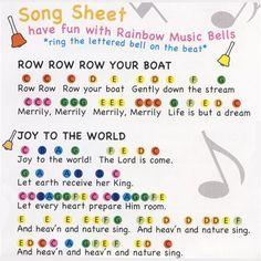 Image result for sheet music for handbells beginners