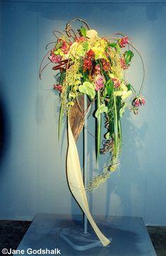 Cascading Tropical Flower Arrangement