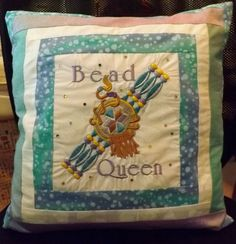 """I added """"Machine Embroidered Pillow"""" to an #inlinkz linkup!"""