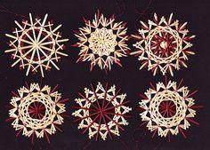 Henrike Bratz Straw Weaving, Christmas Diy, Christmas Decorations, Handmade Ornaments, Christmas Traditions, Etsy, Scandinavian, Origami, Stars