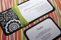 Black and White Floral Damask Wedding by decadentdesigns on Etsy, $4.50