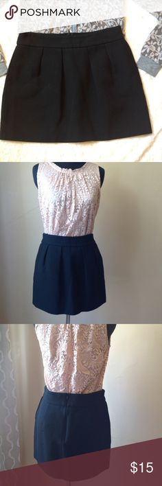 Zara women's wool blend mini skirt size S in black Zara women's wool blend mini skirt size S in black. Excellent condition. Back zipper, with pockets. Fully lined. Zara Skirts Mini