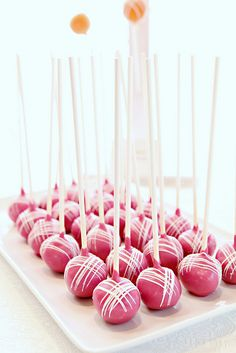 Plated Cake Pops by Sweet Lauren Cakes, via Flickr
