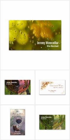 Wine and beer business cards collection