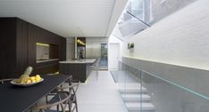 Unusually long Victorian Lion House is situated at the bend of a long terrace in Fulham - CAANdesign | Architecture and home design blog