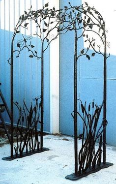 garden arbor, garden art, yard art, artist blacksmith