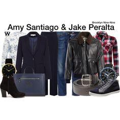 Inspired by Melissa Fumero & Andy Samberg as Amy Santiago & Jake Peralta on Brooklyn Nine-Nine.