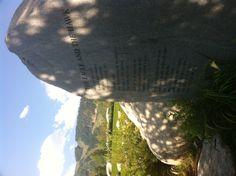 John Denver Sanctuary, song lyric tribute stone (The Eagle & The Hawk), Aspen, CO