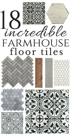 So many inspiring farmhouse style floor tiles. I personally love the mosaic tiles! Be bold in your design choices:) tile 18 Incredible Farmhouse Bathroom Floor Tiles Bathroom Floor Tiles, Kitchen Tiles, Kitchen Dining, Kitchen Wood, Dining Rooms, Farm House Bathroom, Kitchen White, Kitchen Paint, Best Kitchen Flooring