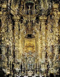 Cyril Porchet Photographs Ornate Baroque Churches Around The World -Church of the Cartuja, Granada, Spain.