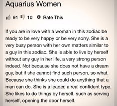follow me @cushite That's me..Aquarius! Hubbie of 34 yrs died and it's up to me to take care of me.
