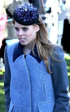 Princess Beatrice, December 25, 2013 | The Royal Hats Blog #millinery #judithm #hats