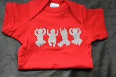 OHIO Babies White and Red Baby Onesie Newborn 6 by thebuckeyelady