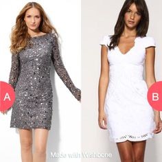 Long sleeve or short sleeve dresses?  Click here to vote @ http://getwishboneapp.com/share/6826632