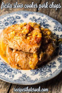 Fiesta Slow Cooker Pork Chops Recipe: