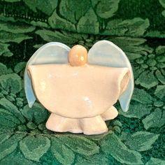 Small Pottery Angel - Pottery Angel - Pottery Cherub. $20.00, via Etsy.
