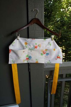 apron - another use for a pillowcase (or any fabric) - very good tutorial - the diagram at the end is easy to follow.